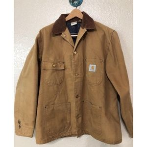 Vintage Carhartt Wool Lined Work Quilted Jacket